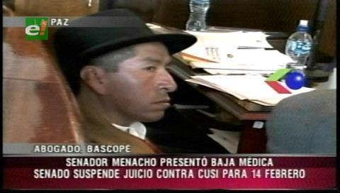 Suspenden hasta el 14 de febrero juicio al exmagistrado Cusi