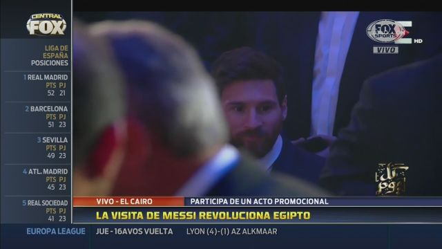 Messi revolucionó Egipto