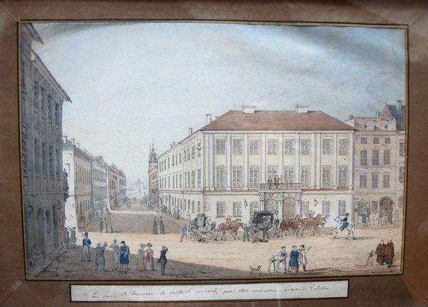 Pintura del palacio Potocki en Cracovia por la condesa polaca del siglo XIX Julia Potocka