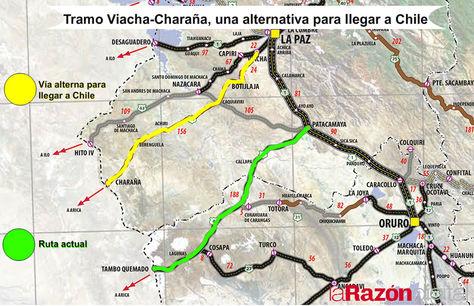 Tramo Viacha-Charaña, una alternativa para llegar a Chile