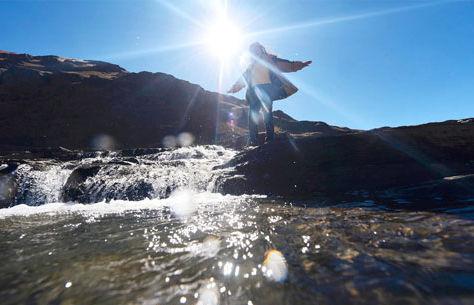 La represa Hampaturi de La Paz.