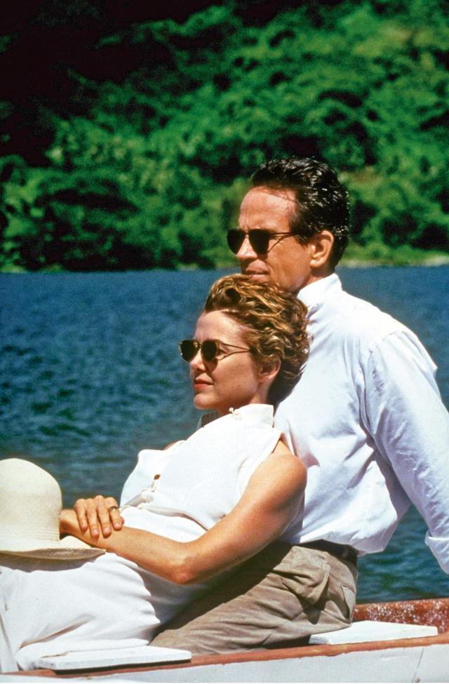 Warren Beatty y su mujer, Annette Bening, en