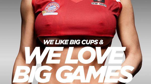"""""""Nos gustan las copas grandes y nos gustan los juegos grandes"""", dice el anuncio sexista del Bayern Munich (@fcb_basketball)"""