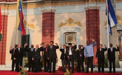 Presidentes del ALBA en la cumbre del bloque en 2015.