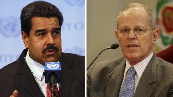 Nicolás Maduro y Pedro Pablo Kuczynski