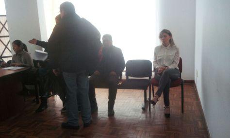 Gabriela Zapata (der) en la instalación del juicio oral por legitimación de ganancias ilícitas.