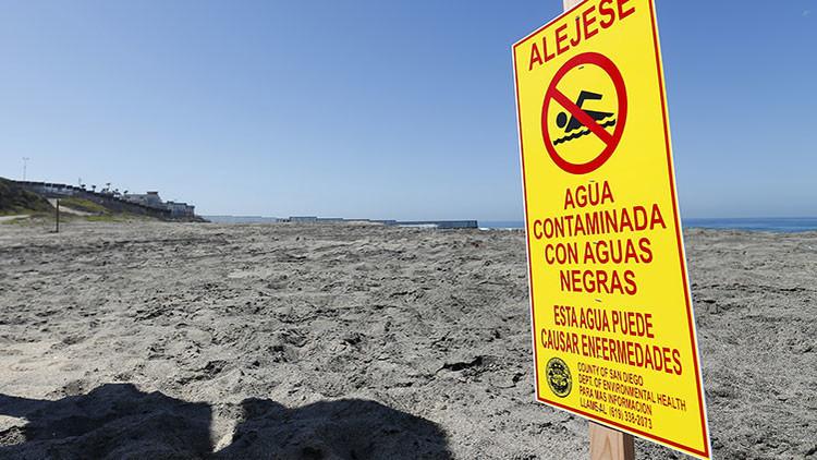 EE.UU. acusa a México de contaminar sus playas con un