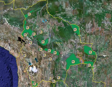Parques Nacionales de Bolivia.