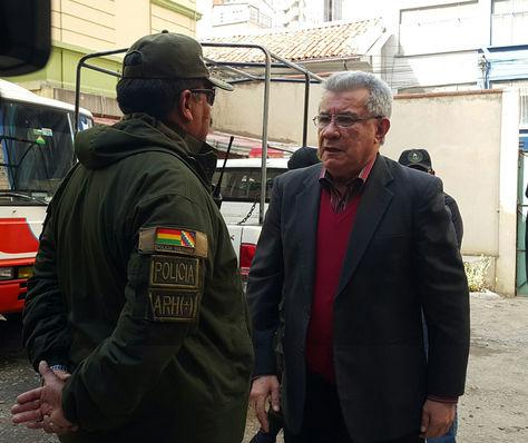El exprefecto de Pando, Leopoldo Fenández, llega a su audiencia cautelar. Foto: La Razón