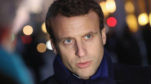 Emmanuel Macron pasó al frente en las encuestas (Getty)