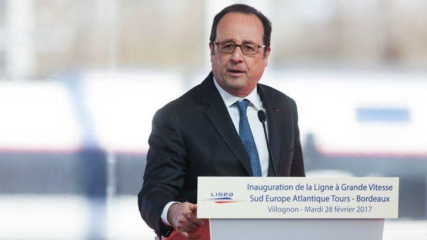 El presidente François Hollande deja el poder con baja popularidad(AFP)