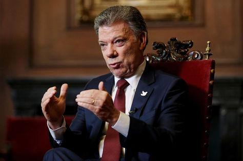 Juan Manuel Santos en diálogo con la agencia EFE. Foto: EFE