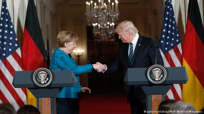 USA Merkel und Trump (picture alliance/AP/P. Martinez Monsivais)
