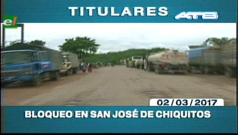 Video titulares de noticias de TV – Bolivia, mediodía del jueves 2 de marzo de 2017