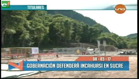 Video titulares de noticias de TV – Bolivia, mediodía del miércoles 8 de marzo de 2017