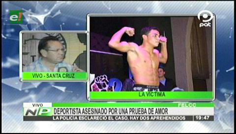 Por una prueba de amor mataron a joven deportista en Santa Cruz
