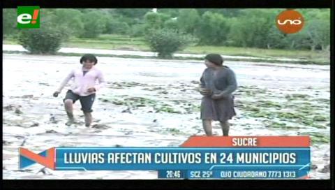 Chuquisaca: Hay 4.355 familias afectadas por las lluvias