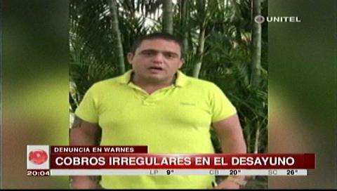 Pablo Ramos denunció cobros irregulares en el desayuno escolar de Warnes