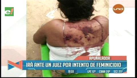 Hospitalizan a mujer herida con cuchillo por su esposo