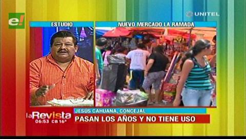 Concejal Cahuana afirma que hasta junio dos mercados serán reordenados