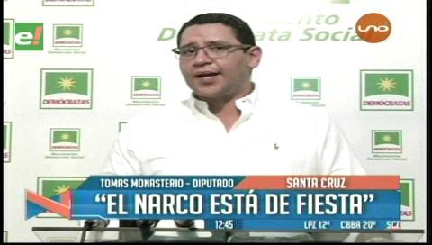 """Monasterio y la promulgación de la Ley de Coca: """"El narcotráfico está de fiesta"""""""