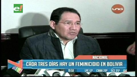 Cada 3 días hay un feminicidio en Bolivia, según la Fiscalía General