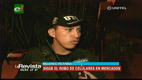 Arrestan a dos antisociales acusados de robar celulares en el mercado Los Pozos