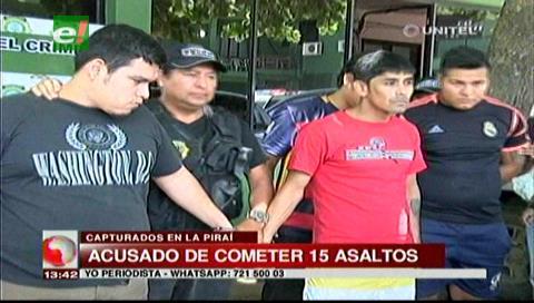 Detienen a cuatro presuntos delincuentes acusados de cometer 15 atracos