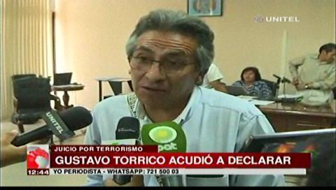 Ex viceministro Torrico declara como testigo en el caso Terrorismo