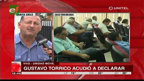 Prado afirma que declaración de Torrico ayudará al caso de supuesto terrorismo