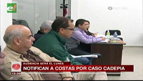 Notifican al gobernador Costas por el caso Cadepia