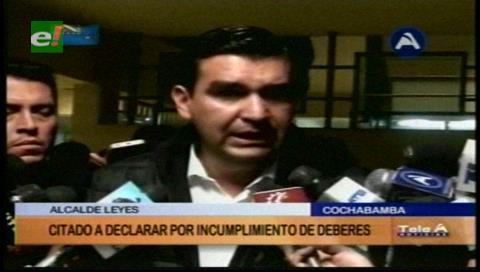 Cochabamba: Alcalde Leyes se abstuvo a declarar ante la Fiscalía