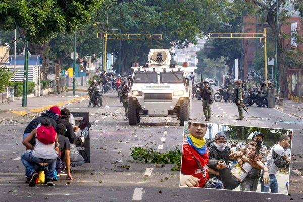 Miembros de la Guardia Nacional Bolivariana (GNB, policía militarizada) disolvieron con gases lacrimógenos la concentración opositora en la zona del Paraíso, también al oeste de Caracas, cuando intentaban llegar hacia el centro, lo que originó el enfrentamiento con algunos manifestantes.