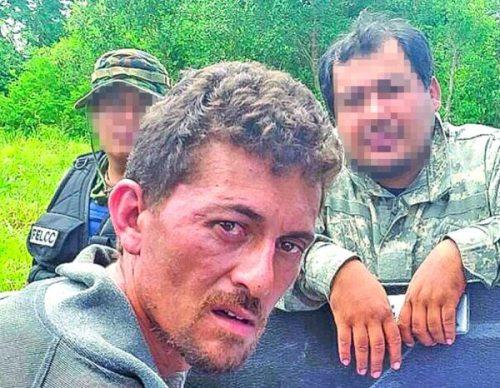 Mariano Tardelli tras su captura por autoridades nacionales.