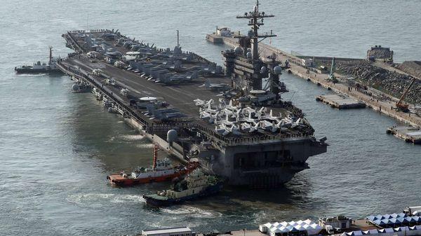 El USS Carl Vinson fue recientemente movilizado hacia la península de Corea (Reuters)