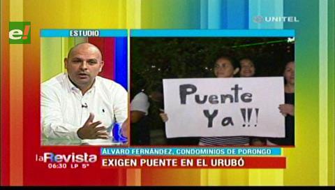 Pobladores del Urubó exigen la construcción de un nuevo puente