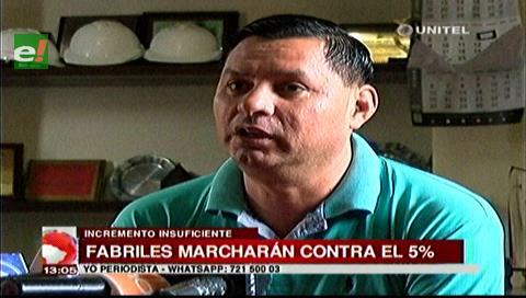 Fabriles acusan al Gobierno de favorecer al sector privado con el incremento