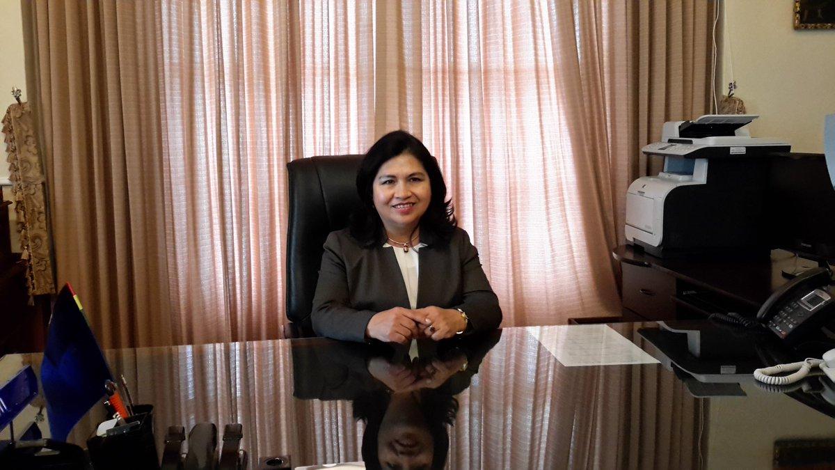 Resultado de imagen de viceministra de Relaciones Exteriores, Guadalupe Palomeque