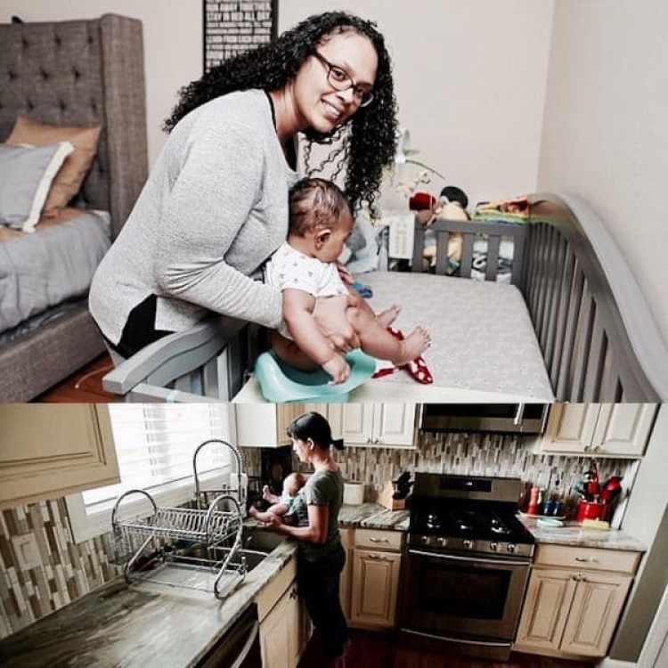 Cristina Ramos aplica el entrenamiento con bacinilla con su hijo Xavier de solo 4 meses
