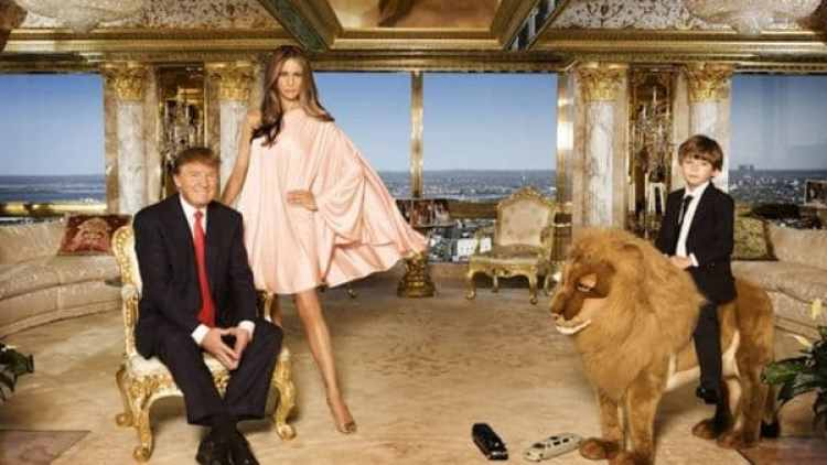 Donald Trump, Melania Trump y Barron Trump, Abril de 2010 en New York City. (Foto: Regine Mahaux/Getty Images)