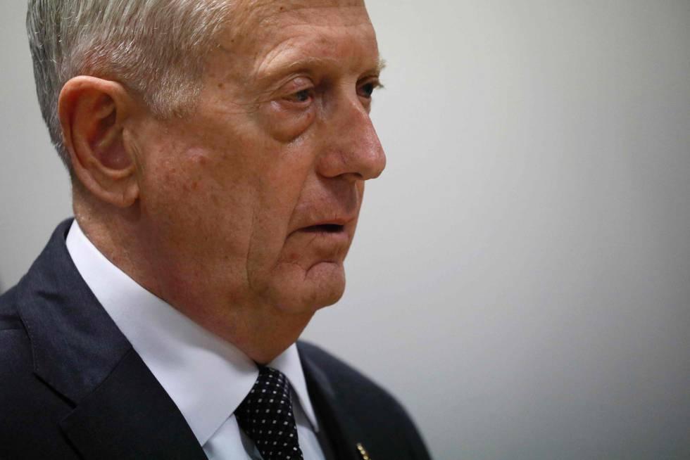 El jefe del Pentágono, James Mattis, en un acto en abril
