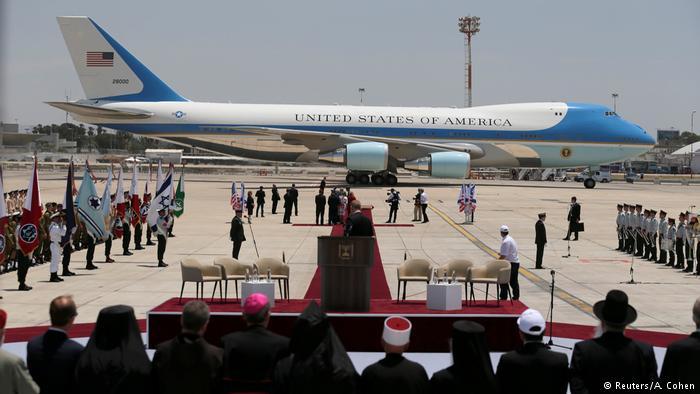 Trump llegó a Tel Aviv en el primer vuelo directo de la historia entre Arabia Saudita e Israel. (Reuters/A. Cohen)
