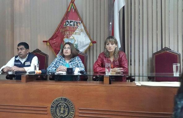 Resultado de imagen de Tribunal Electoral de Tarija entrega cartas orgánicas