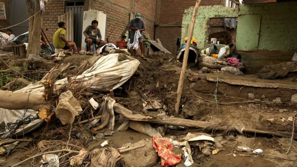 Los estragos de las lluvias en Perú en marzo pasado.