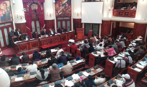 La sesión ordinaria de la Asamblea Legislativa Plurinacional de este sábado. Foto: Rubén Ariñez