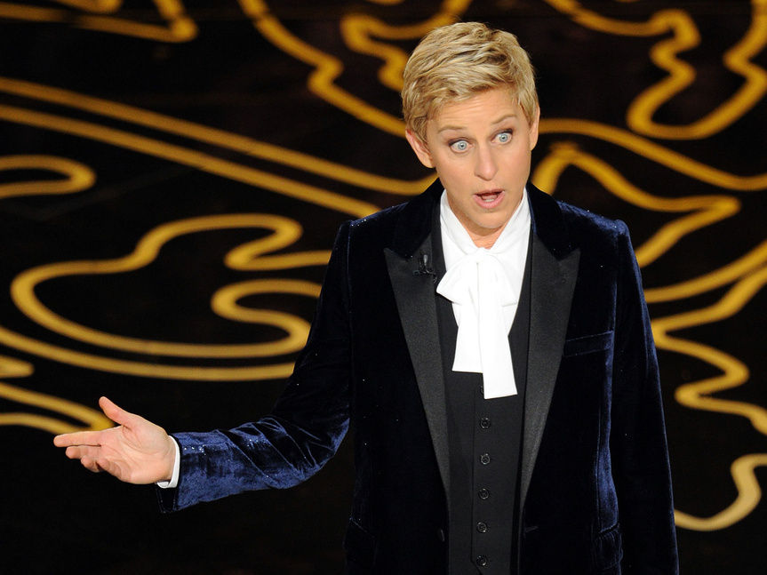 Ellen, presentando los Oscar.