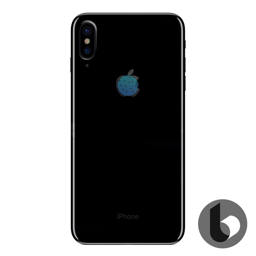 Sensor Touch ID del iPhone 8 integrado en el logo de la manzana