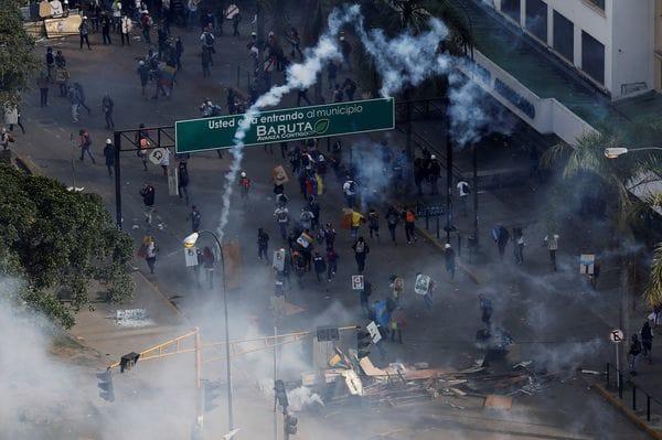 257 personas resultaron heridas este lunes en Caracas (Reuters)