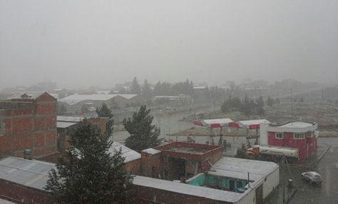 Cayó nevada este martes 30 de mayo de 2017 en la ciudad de El Alto. Foto: Juan José Cusicanqui
