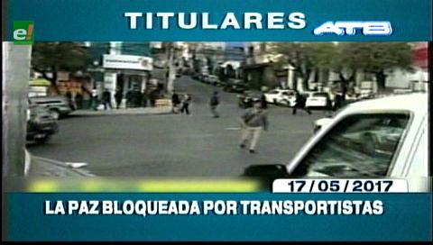 Video titulares de noticias de TV – Bolivia, mediodía del miércoles 17 de mayo de 2017
